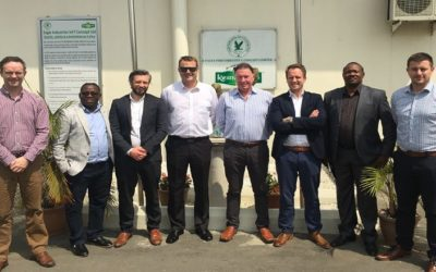 Aurivo representatives travel to Nigeria to launch new product
