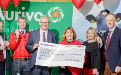 Aurivo presents Croí Heart & Stroke Charity with €40,000 to fund Courtyard Apartments